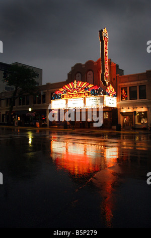Old fashioned cinema in Birmingham Michigan USA - Stock Photo