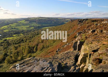 Curbar edge Peak District Derbyshire England UK - Stock Photo