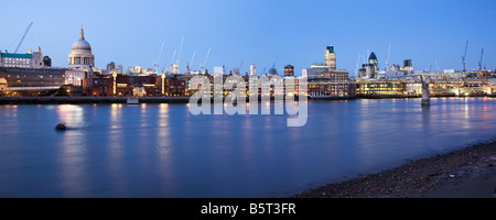 UK London Skyline viewed over the River Thames - Stock Photo