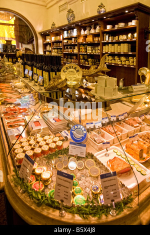 Dahlmeier Delicatessen shop Caviar Munich Germany - Stock Photo