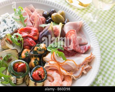 Platter of Antipasto - Stockfoto
