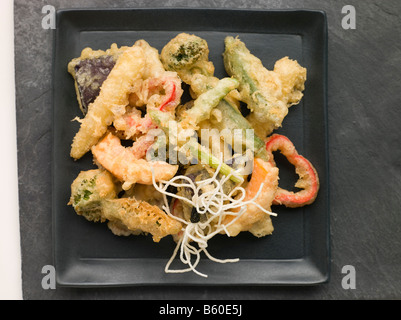 Tempura of Vegetables - Stock Photo