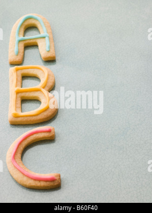 ABC Shortbread Biscuits - Stock Photo