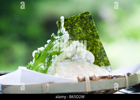 Vegetable tempura, close-up - Stock Photo