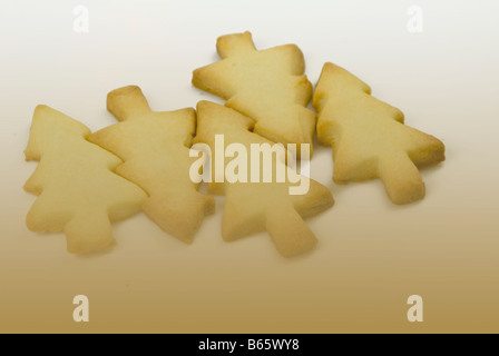 Christmas shortbread cookies - Stock Photo