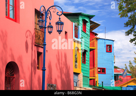 """Caminito street"" lateral view, ""La Boca"" Town, Buenos Aires, Argentina. - Stock Photo"