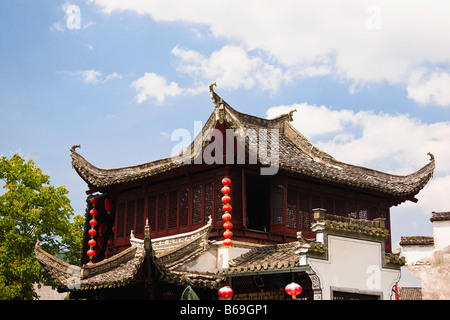Low angle view of a temple, Xidi, Anhui Province, China - Stockfoto