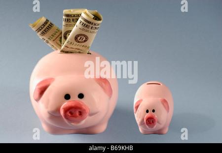 Two piggy banks - Stockfoto
