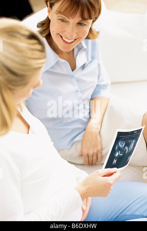 Obstetric ultrasound examination Stock Photo, Royalty Free ...