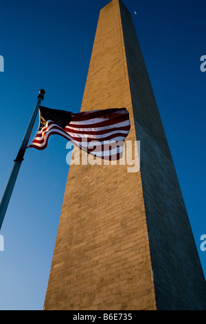 A view of the Washington Monument at sunrise on the National Mall in Washington DC on March 5 2008 - Stockfoto