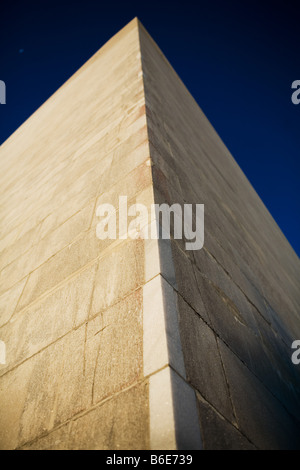 A view of the Washington Monument at sunrise on the National Mall in Washington DC on March 5 2008. - Stock Photo