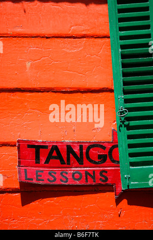 Detail from the touristy area of the La Boca neighbourhood of Buenos Aires - Stock Photo
