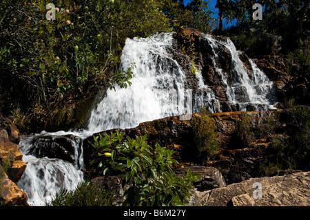 Cachoeiras Rio Cristal Chapada dos Veadeiros Veadeiros Tableland Goias Brazil - Stock Photo