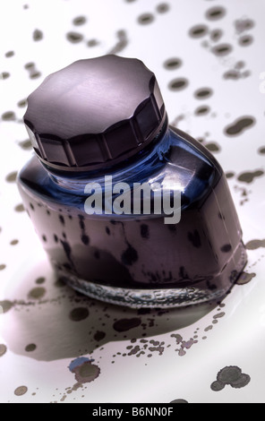 Ink bottle - Stock Photo