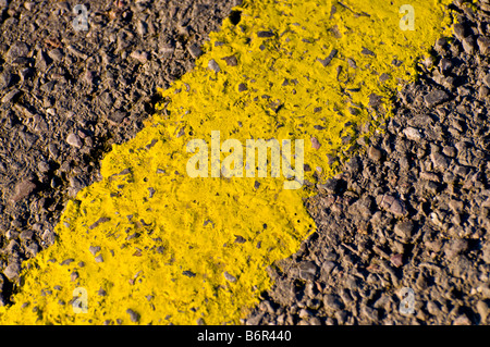 Yellow road line - Stock Photo