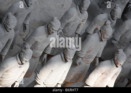 Terracota army, Xian, China - Stock Photo