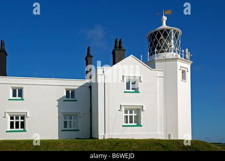 der Leuchtturm am Lizard Point, Cornwall, England, uk - Stockfoto