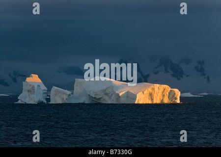 Morning view of iceberg in the Antarctic Ocean Antarctica - Stock Photo