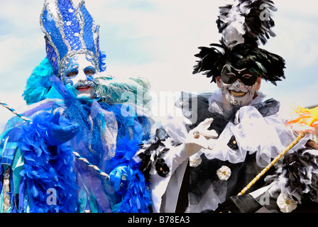 Street performers dressed up with costumes and masks on the Kiel Week 2008, Kiel, Schleswig-Holstein - Stock Photo
