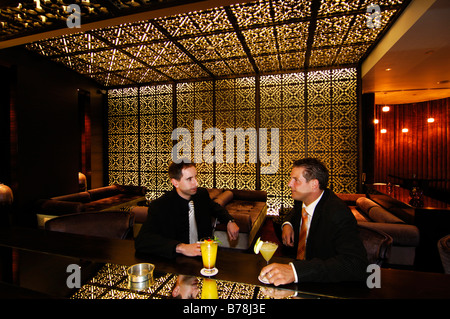 Nightclub guests in Kempinski Hotel at the Mall of the Emirates in Dubai, United Arab Emirates, UAE, Middle East - Stock Photo