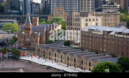 Campbell's Storehouses and Australasian Steam Navigation Co., Sydney, Australia - Stock Photo