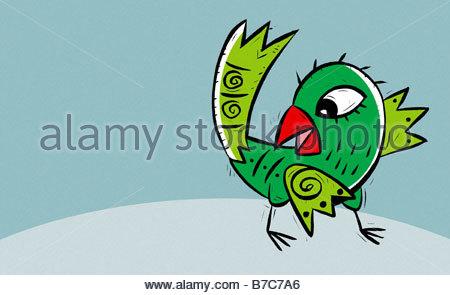 Green Bird - Stock Photo