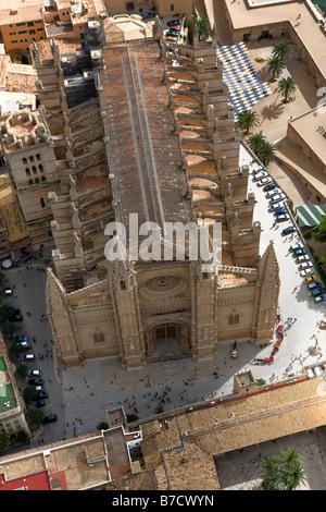 La Seu Cathedral, Palma, Majorca, Balearic Islands, Spain - Stock Photo