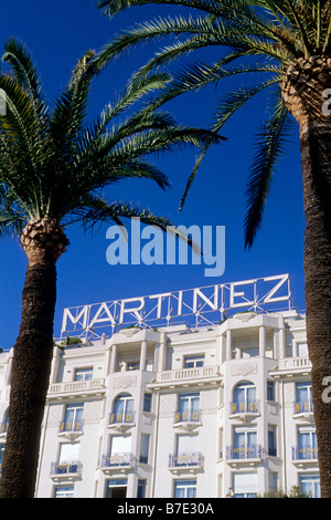 The prestigious Martinez palace in the Cannes Croisette - Stock Photo