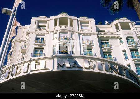The prestigious Martinez hotel in the Croisette of Cannes - Stock Photo
