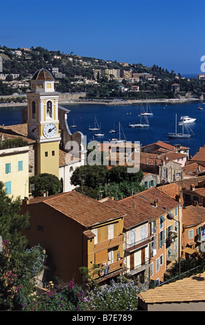 View over Villefranche-sur-Mer, Côte-d'Azur, France - Stockfoto