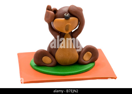 sugary figure toy decoration sugar chocolate little small pieces dessert caramel flavor favourite enjoy ornamentation - Stock Photo