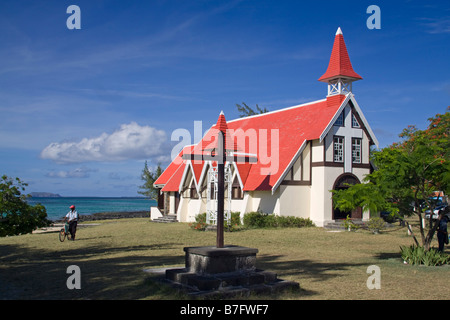 Eglise de Cap Malheureux Mauritius Africa - Stock Photo