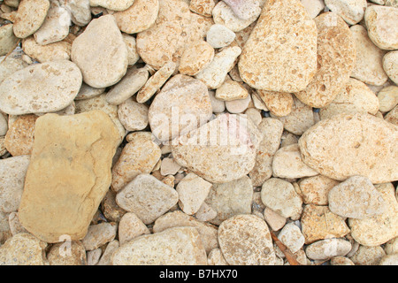 Pebble background of limestone - Stockfoto