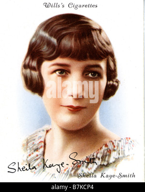 SHEILA KAYE-SMITH  English writer and novelist on a 1930s cigarette card - Stock Photo