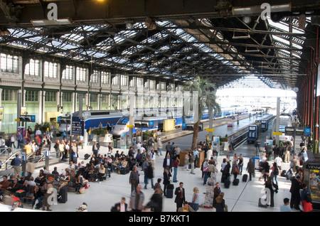 Gare de Lyon railway station in Paris, France - Stock Photo