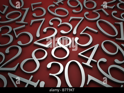 Abstract numbers - Stock Photo