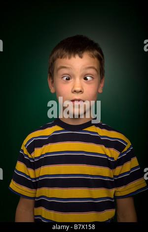 Silly boy - Stock Photo