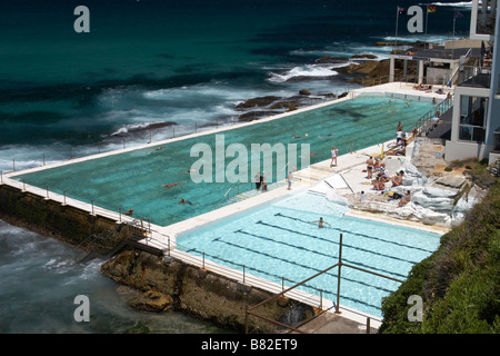 Bondi Icebergs swimming club in Bondi, Sydney - Stockfoto