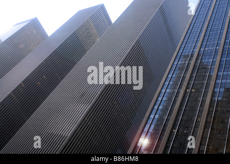 The monolithic Sixth Avenue additions to Rockefeller Center are seen on Sunday January 25 2009 Richard B Levine - Stock Photo