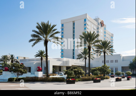 Entrance to the Seminole Hard Rock Hotel and Casino just outside Tampa, Florida, USA - Stock Photo