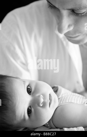 Loving father and baby boy - Stock Photo