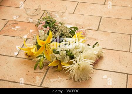 Broken Vase Flowers Floor Stock Photo 280355768 Alamy
