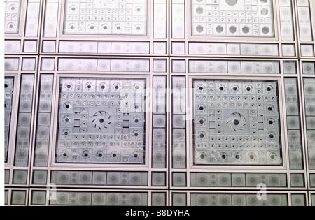 Paris, Detail of Aluminium solar control panels on southern facade of Institut du Monde Arabe. - Stock Photo