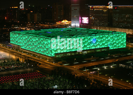 National Aquatics Center,Beijing,China - Stock Photo