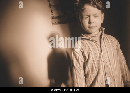 SLEEPWALKING BOY - Stock Photo