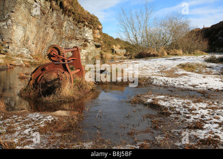 Haytor Quarry in Dartmoor National Park near Bovey Tracey ...