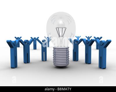 Sharing a Winning Idea - Stockfoto