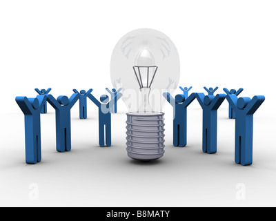 Sharing a Winning Idea - Stock Photo