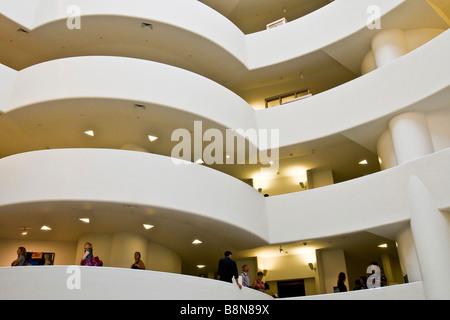 Interior of Guggenheim museum - Stock Photo