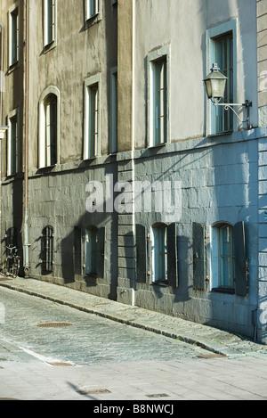 Sweden, Stockholm, building exterior and alleyway - Stock Photo